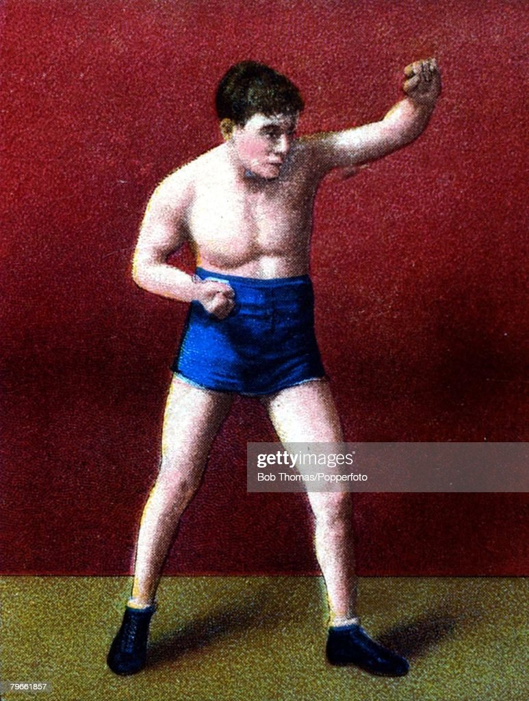 Sport, Boxing, Cigarette card, Circa 1900, Joe Wagner, New