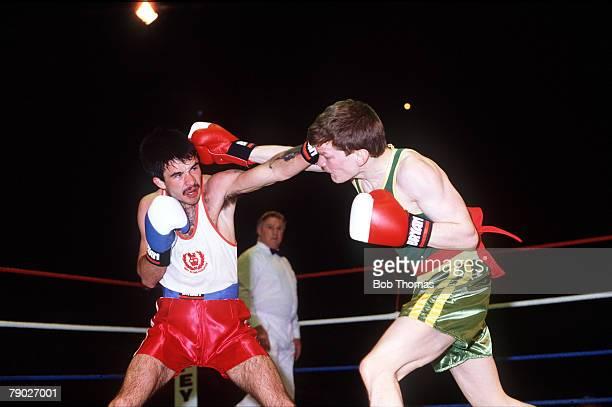 Sport Boxing George Wimpey ABA Finals Wembley London England 1st May 1987 Flyweight John Lyon beat John McLean