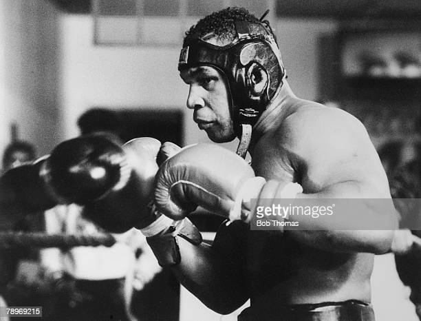 Sport, Boxing, Las Vegas, USA, pic: February 1989, USA'S World Boxing Champion Mike Tyson in training for his fight with Great Britain's Frank Bruno