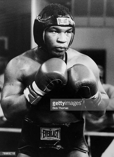 February 1989 USA'S World Boxing Champion Mike Tyson in training for his fight with Great Britain's Frank Bruno