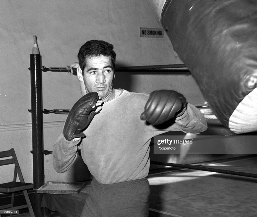Sport, Boxing, London, England, 10th May 1971, Carlos 'Morocho' Hernandez, the Venezuelan Welterweight Champion is pictured training for his non-title fight against World Lightweight Champion Ken Buchanan : News Photo
