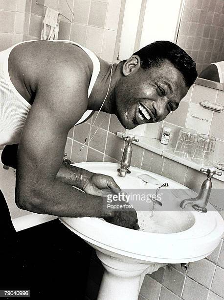 Sport Boxing London England 6th September 1962 American Sugar Ray Robinson the former Middleweight Champion of the World