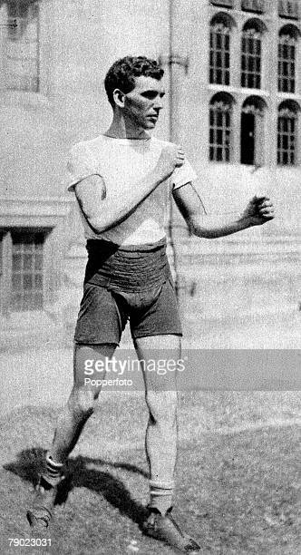 Sport Boxing Middleweight 1920 Olympic Games Antwerp Belgium Harry Mallin Great Britain the Gold medal winner who remained Olympic Champion when he...