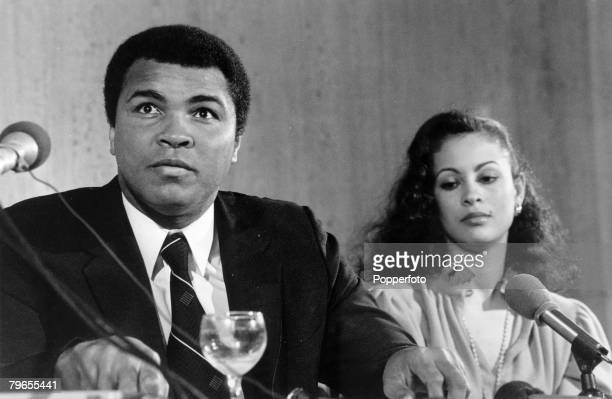 Veronica porsche pictures and photos getty images 15th february 1980 former world heavyweight boxing champion muhammad ali with his wife veronica at a thecheapjerseys Choice Image