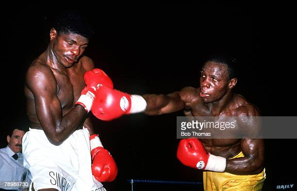 1992 World Super Middleweight Championship at Birmingham Chris Eubank right beat Sugarboy Malinga South Africa on points over 12 rounds