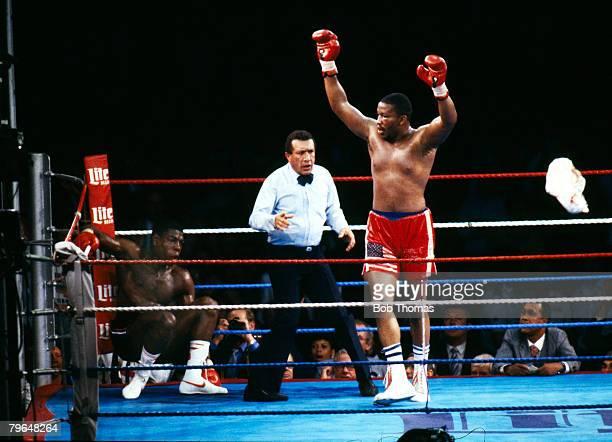 19th July 1986 WBC World Heavyweight Championship Wembley Tim Witherspoon beat Frank Bruno Tim Witherspoon right has ko'd Frank Bruno in the 11th...