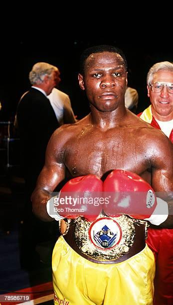 22nd June 1991 WBO World Middleweight Championship at Earls Court London Great Britain's Chris Eubank after beating Michael Watson