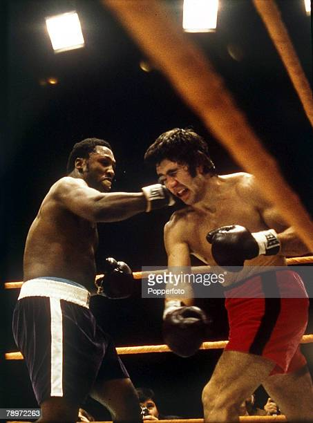 January 1971 World Heavyweight Championship New Orleans The world heavyweight champion Joe Frazier left connects with a right as he batters fellow...