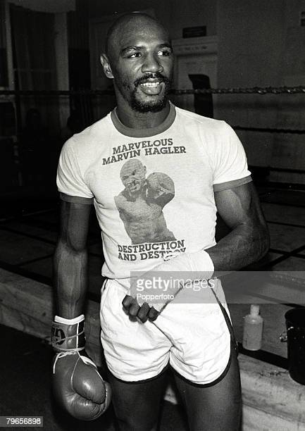 Sport Boxing World Middleweight Title pic 25th September 1980 USA's Marvin Hagler training in London for his fight with Great Britain's Alan Minter...