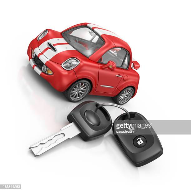 sport car and keys