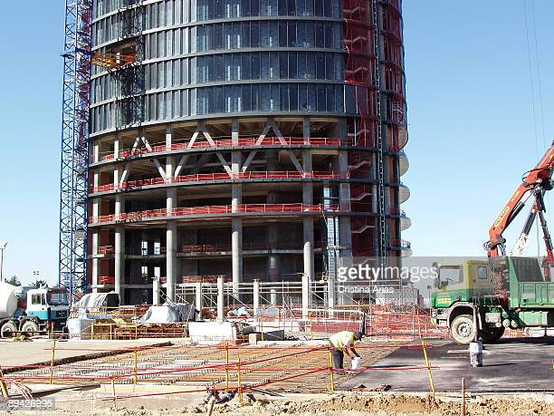 Sport City Towers contruction Madrid The four Towers located in Real Madrid Sport City old lands Space Tower Repsol Tower Sacyr Tower and Mutua Tower...