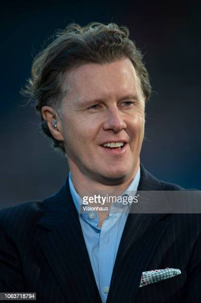 Sport commentator Steve McManaman before the Premier League match between Huddersfield Town and Liverpool FC at John Smith's Stadium on October 20...