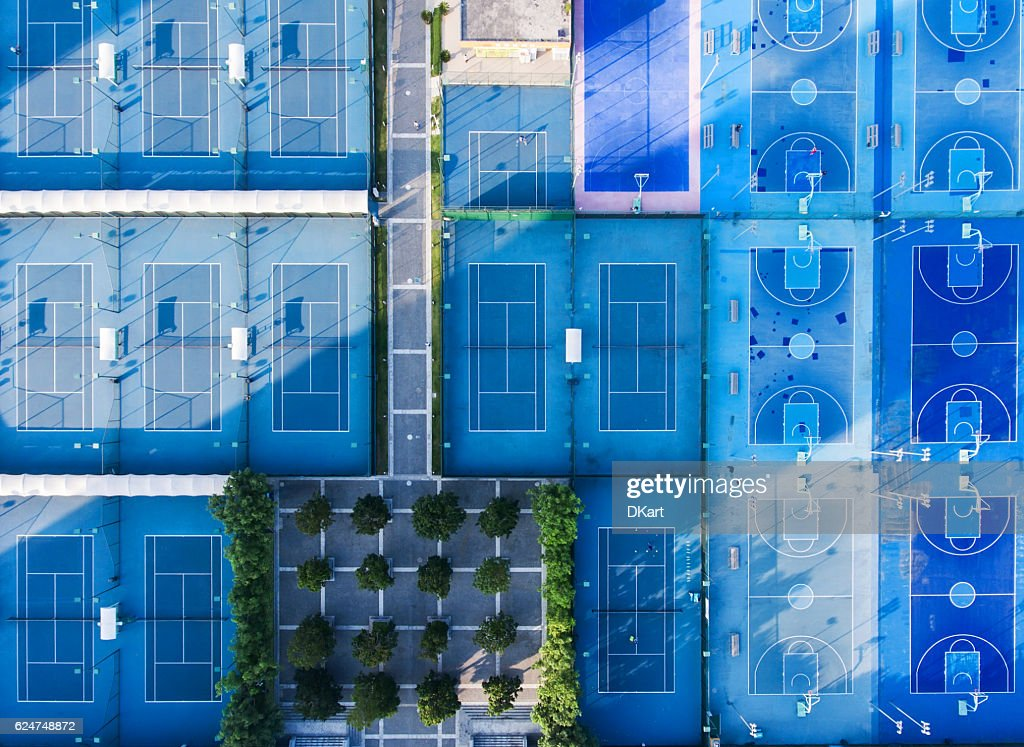 Sport courts : Stock Photo