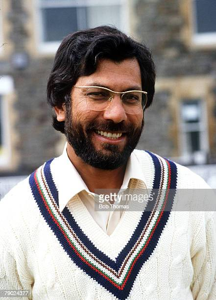 Sport Cricket 1980's A portrait of Zaheer Abbas of Gloucestershire and Pakistan