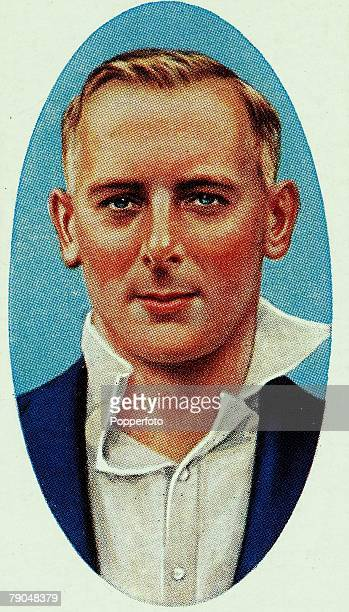 Sport, Cricket, Cigarette card, Circa 1935, Hedley Verity, Yorkshire, and England
