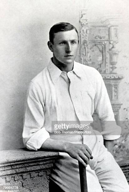 Sport Cricket Circa 1895 Arthur Owen Jones played for Nottinghamshire from 18921914 and England During his career he managed to hit 1000 runs in a...