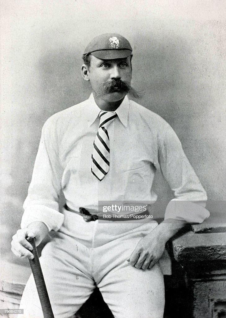 Sport, Cricket, Circa 1895, Charles John MacDonald Fox, Kent, (1888-1893) : News Photo