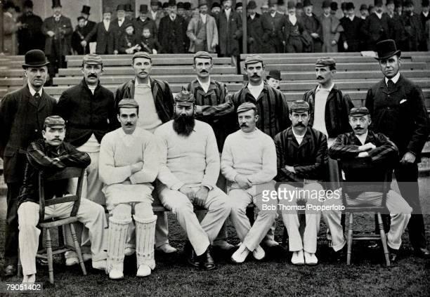 Sport Cricket Circa 1895 Lord Sheffield's team to Australia 18911892 Back row LR Carpenter Attewell Lohmann MRead Bean Sharpe Thoms Front row LR...