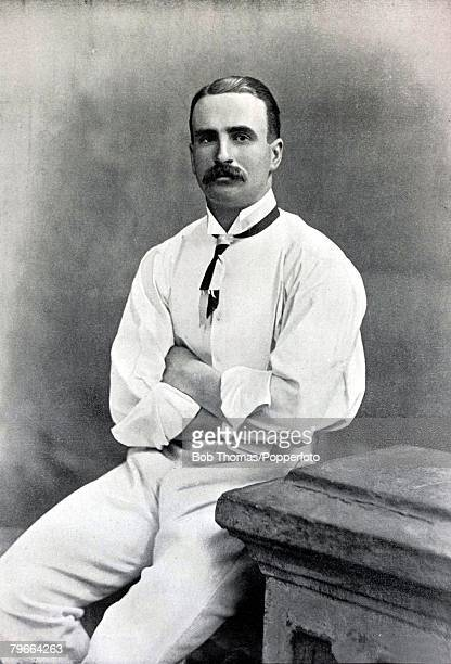 Sport Cricket Circa 1895 Octavius Goldney Radcliffe Gloucestershire