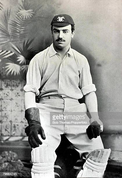 Sport Cricket Circa 1895 Richard Percy Lewis Oxford University and Middlesex He was a wicketkeeper and batsman