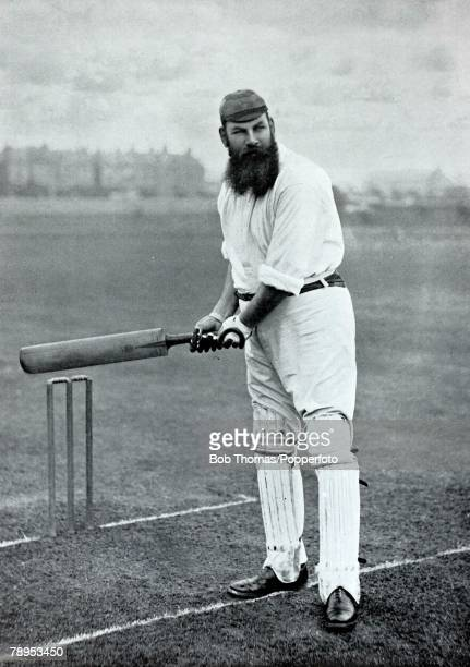 Sport, Cricket, circa 1895, WG Grace, played for Gloucestershire, and England,