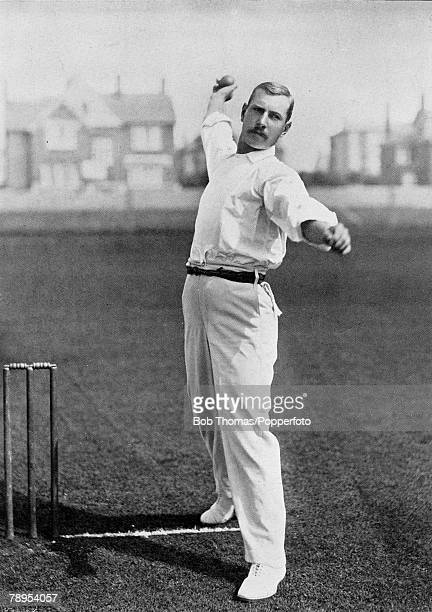 Sport Cricket Circa 1895 William Lockwood played for both Nottinghamshire and Surrey One of the best fast bowlers of his era he also played 12...