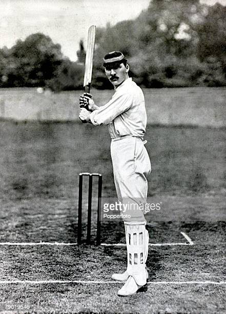 Sport Cricket Circa 1900 Archibald Campbell MacLaren Lancashire and England MacLaren amassed 424 in an innings for Lancashire v Somerset in 1895 led...