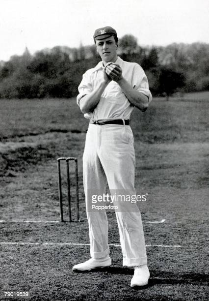 Sport Cricket Circa 1900 Bernard James Tindal Bosanquet Oxford University Middlesex and England Bosanquet holds a place in history by virtue of...