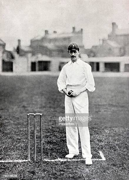 Sport, Cricket, Circa 1900, Frederick George Bull, Essex, achieving 100 wickets in a season twice and best bowling figures of 9-93 v Surrey in 1897