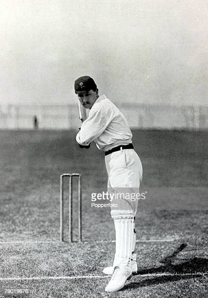 Sport Cricket Circa 1900 John Thomas Tyldesley Lancashire and England Tyldesley very quick on his feet hit 152 runs in only his 2nd game in 1901 he...