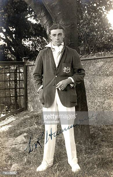 Sport Cricket Circa 1903 A picture of Walter Reginald Hammond who played for Gloucestershire and England