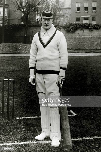 Sport Cricket Circa 1905 Henry Knollys Foster Amateur He was a right hand batsman right arm fast bowler who played for Oxford University and...