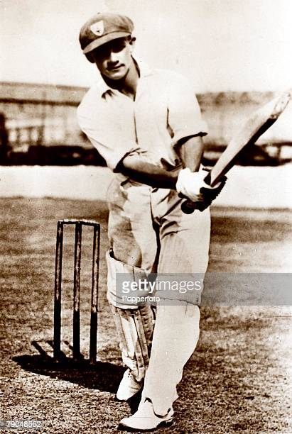 Sport Cricket Circa 1930 A picture of Donald Bradman who played for New South Wales South Australia and Australia
