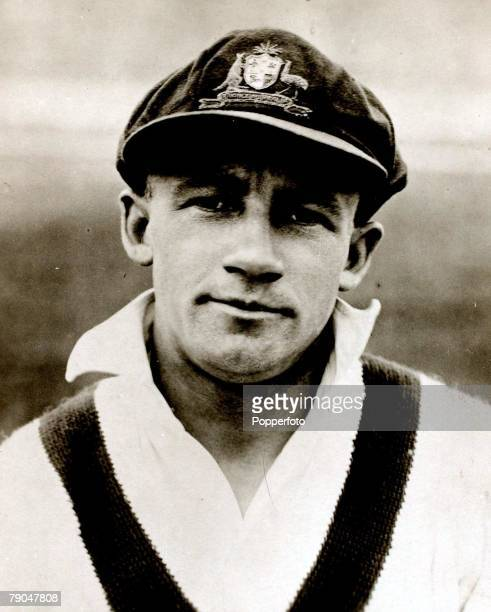 Sport Cricket Circa 1935 A picture of Don Bradman who played for Australia New South Wales and South Australia