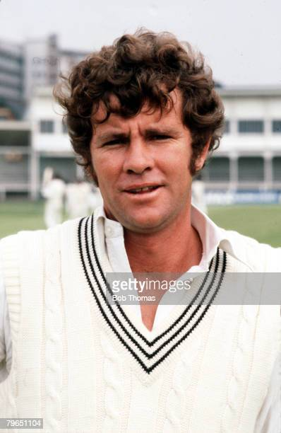 Sport Cricket Circa 1970's A portrait of New Zealand's Chris Cairns
