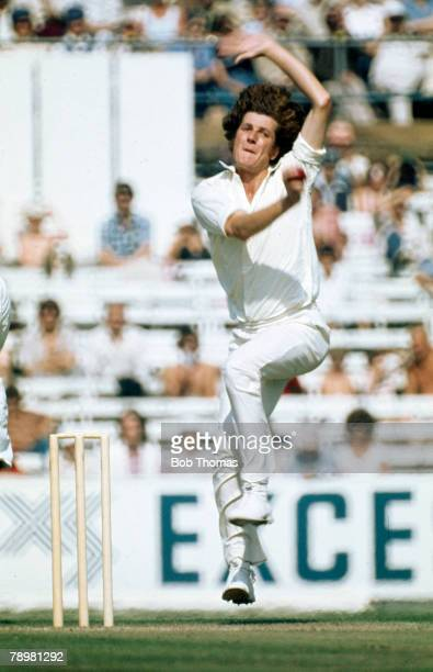 Sport Cricket circa 1981 Bob Willis England fast bowler in action Bob Willis one of the great fast bowlers played in 90 Test matches 19711984 his...
