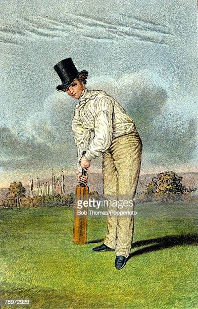 circa 1850 Charles George Taylor who played for both Cambridge University 18361839 and Sussex 18371854 He was noted for his batting style being one...