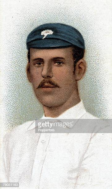 Sport Cricket Colourcigarette card Circa 1896 Edward Wainwright Yorkshire and England