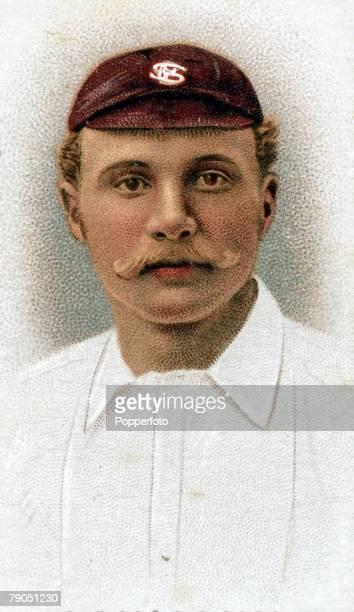Sport Cricket Colourcigarette card Circa 1896 George Lohmann Surrey and England