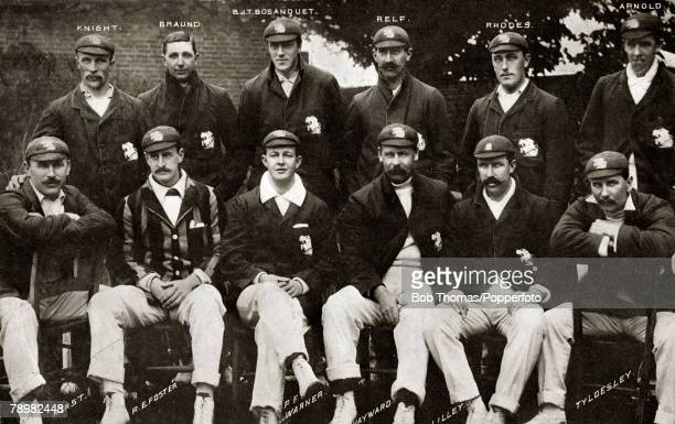 Sport Cricket December 1903 The England team that faced Australia in the Ist Test match of the series played at Sydney England back row lr AEKnight...