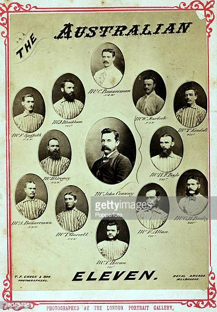 Sport Cricket Early Postcard Postcard shows the Australian cricket team Spofforth Blackham CBannerman Murdoch Kendall Gregory Conway Boyle ABannerman...