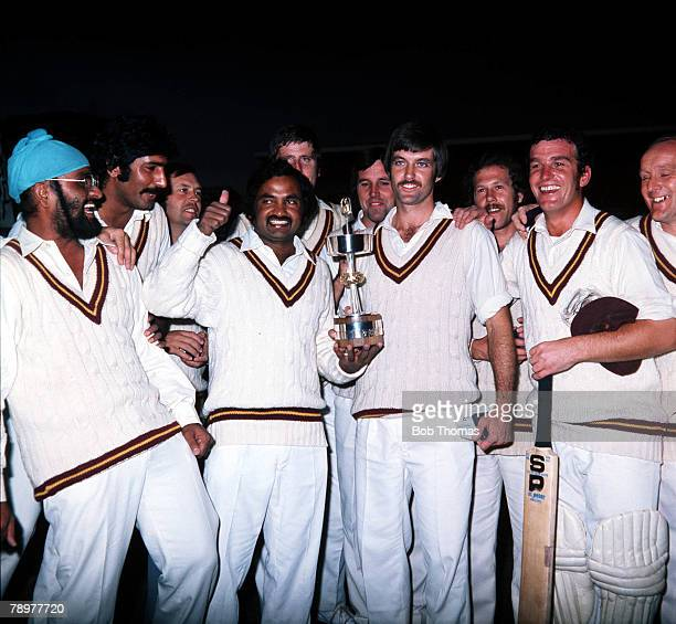 Sport Cricket Gillette Cup Winners Pictured immediately after the presentation at Lord's Bishan Singh Bedi SNawaz RVirgin MMohammed AHodgson JYardley...