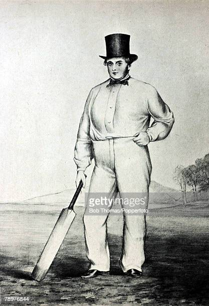 circa 1850 Thomas Hunt Derbyshire one of the best batsmen in the North of England
