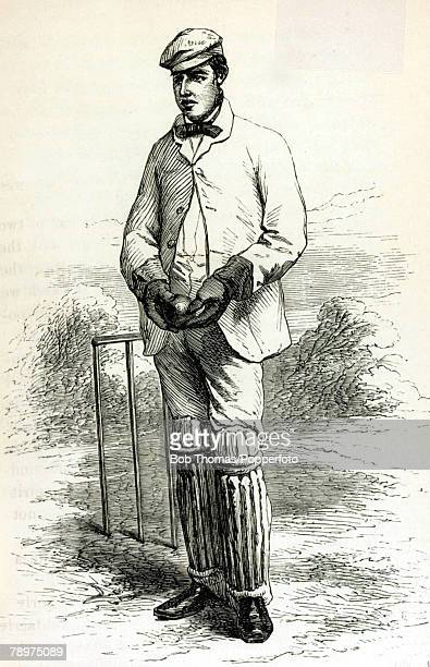 circa 1860's Thomas Lockyer who played for Surrey 18491866regarded as one of the best wicketkeepers of his time
