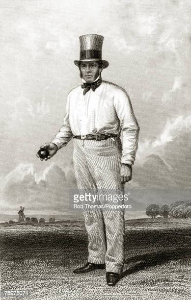 circa 1860's William Clarke who played for Nottinghamshire 18261855 and for some seasons practiced the art of underarm bowling