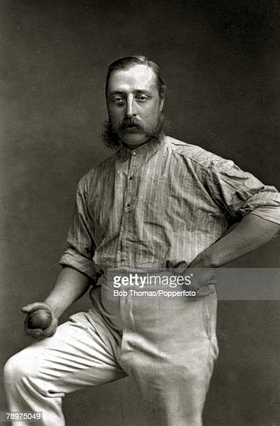 Sport, Cricket, Illustration, pic: circa 1876, Alfred Shaw, was one of the most successful bowlers of his time, playing for Nottinghamshire and for...