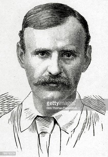 Sport, Cricket, Illustration, pic: circa 1890, William Barnes, Nottinghamshire 1875-1894 and England 1880-1890
