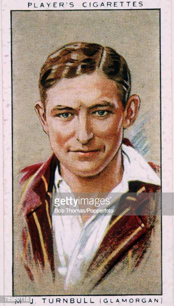 circa 1930's Maurice Turnbull Glamorgan and England born 1906 and killed in France in 1944
