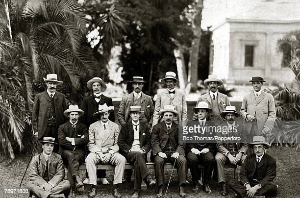 Sport Cricket January 1904 The MCC team to Australia 1903 to 1904 photographed in Adelaide prior to the 3rd Test match This England team under the...