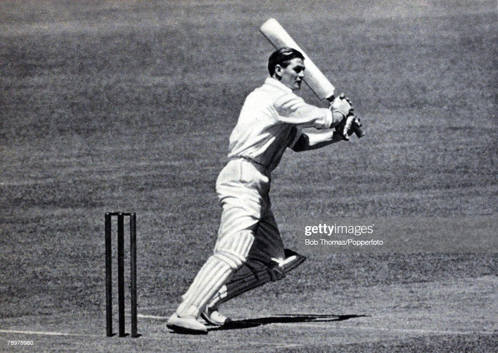 Sport. Cricket. January 1951. 3rd Test Match at Sydney. Australia beat England by an Innings and 13 runs. Australian all rounder Keith Miller during his innings of 145 not out. : News Photo